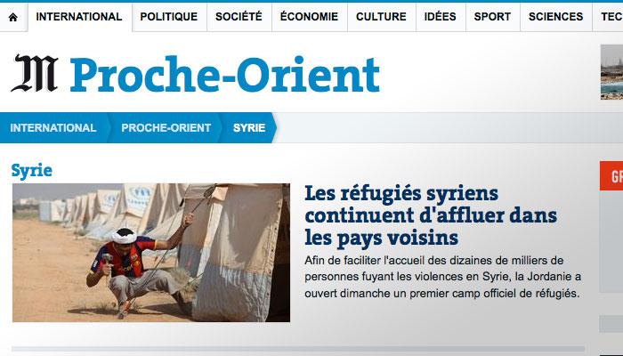 Le Monde : flagrant délit