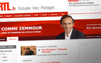 Liberté d'expression : Zemmour sanctionné par leCSA