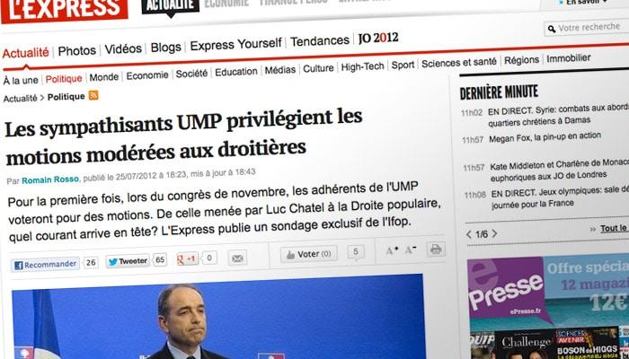 Sondage Ifop-UMP : collusion entre médias et politiques ?