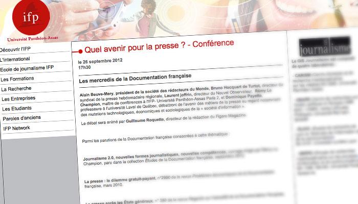 """<span class=""""dquo"""">«</span> Quel avenir pour la presse »"""