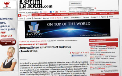 """""""Journalistes amateurs et surtout clandestins"""""""