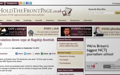 Les quotidiens écossais en phase terminale?