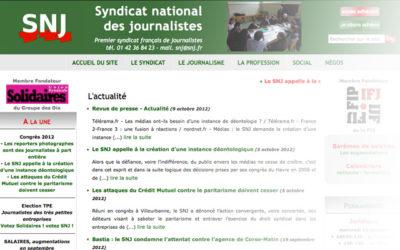 Le SNJ demande la création d'une instance déontologique