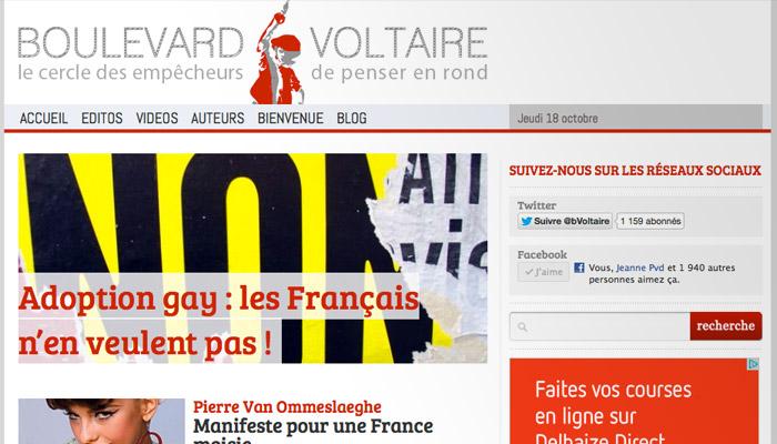 Boulevard Voltaire de Robert Ménard : déjà cent mille visiteurs uniques