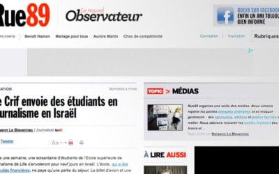 Le CRIF envoie des étudiants en journalisme en Israël