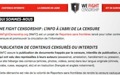 Nous combattons la censure