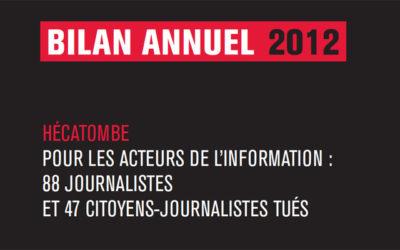 2012 : une « hécatombe » pour les journalistes