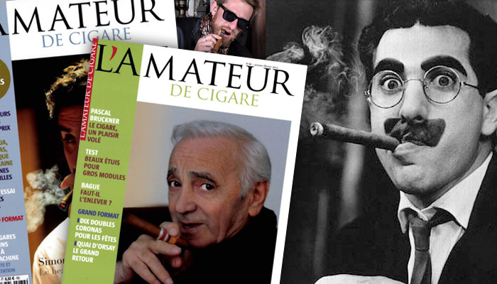 L'Amateur de cigare relaxé