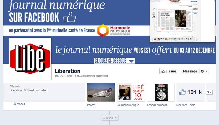 Libération sort son journal numérique sur Facebook