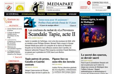Mediapart : 700 000 euros de profits en2012
