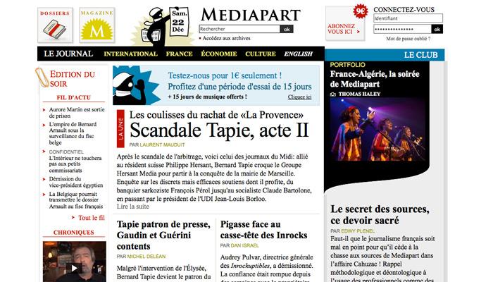 Mediapart : 700 000 euros de profits en 2012