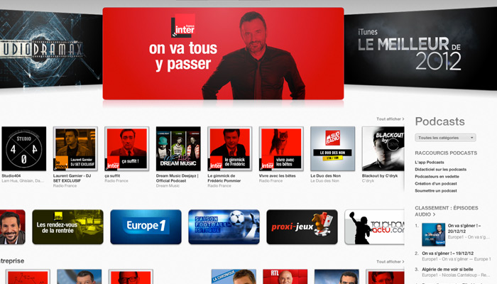Téléchargement de podcasts : France Culture devance France Inter