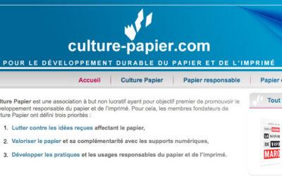 « Culture papier » fait campagne
