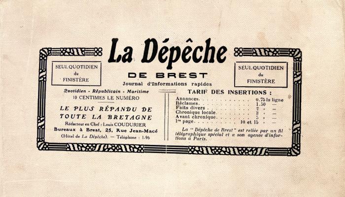 La Dépêche de Brest, ancêtre du Télégramme, bientôt entièrement numérisée