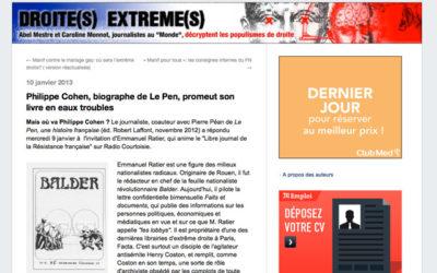 Philippe Cohen à Radio Courtoisie : Abel Mestre brandit un carton rouge