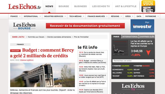 À 1,90 €, Les Échos devient le journal le plus cher de France