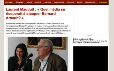 Médias : Laurent Mauduit pose les bonnes questions