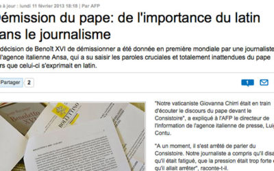 Journalisme : le latin réhabilité!