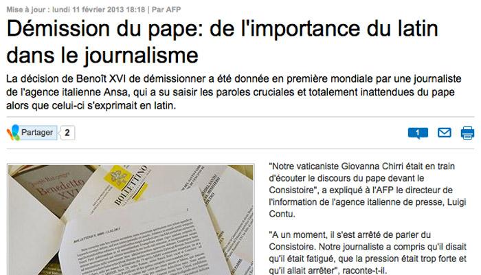 Journalisme : le latin réhabilité !