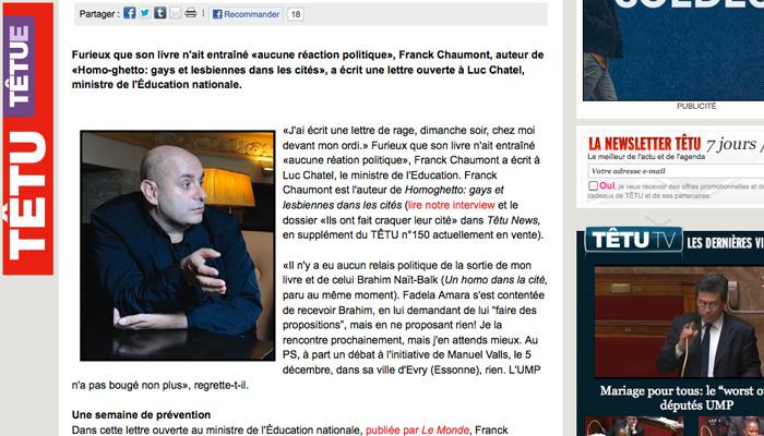 Franck Chaumont : journaliste ou militant ?