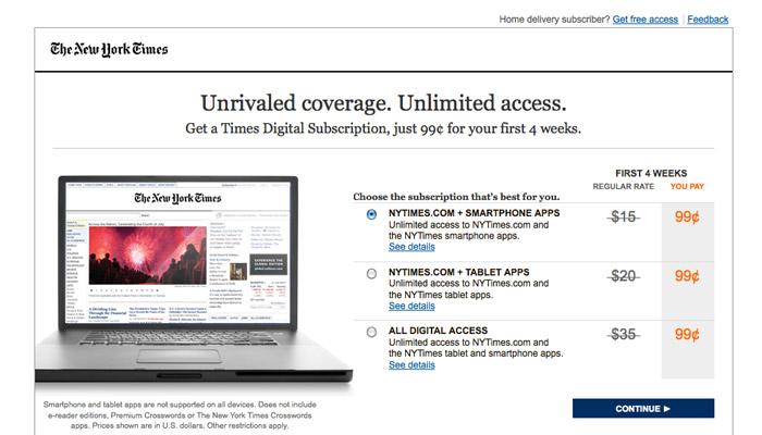 Le numérique sourit au New York Times