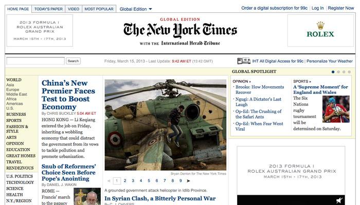 Le site du New York Times bientôt amélioré