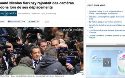 Médias : Sarkozy et ses caméras bidon
