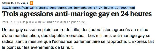 Médias : L'Express voit de l'homophobie partout