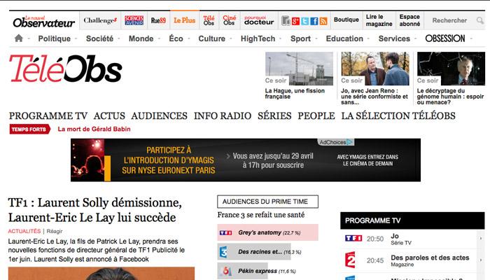 Médias : Télé Obs, c'est fini