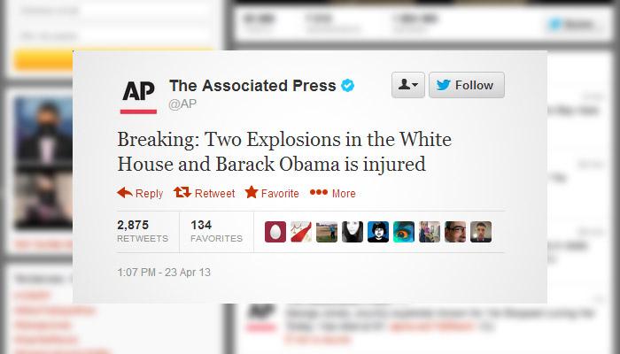 Un faux tweet d'AP fait paniquer les marchés