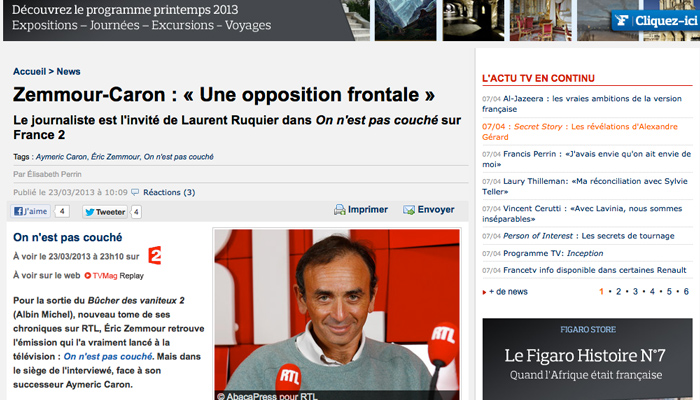 Zemmour, une certaine idée du journalisme à la française