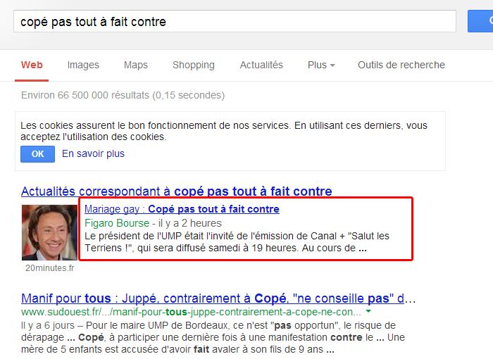 Copé/Mariage Gay : Le Figaro supprime un article