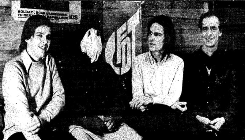 Nicolas Baby aux côtés de Charles Piaget à droite de l'image