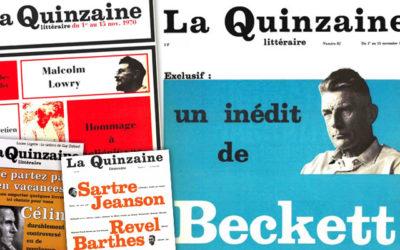 La Quinzaine littéraire « en danger de mort » selon Maurice Nadeau