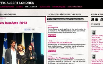 Deux français remportent le prix Albert Londres