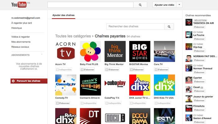 Youtube confirme la création de chaînes payantes