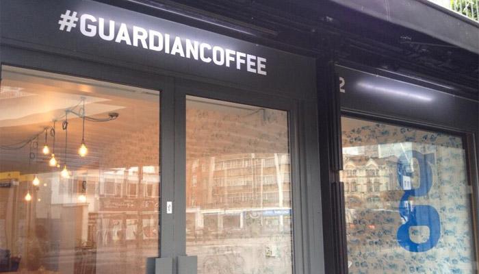 Le Guardian ouvre un café