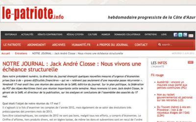Nice : Le Patriote meurt « les armes à la main »