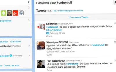 Twitter débouté dans l'affaire du hashtag #unbonjuif