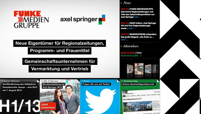 Axel Springer se désengage des médias