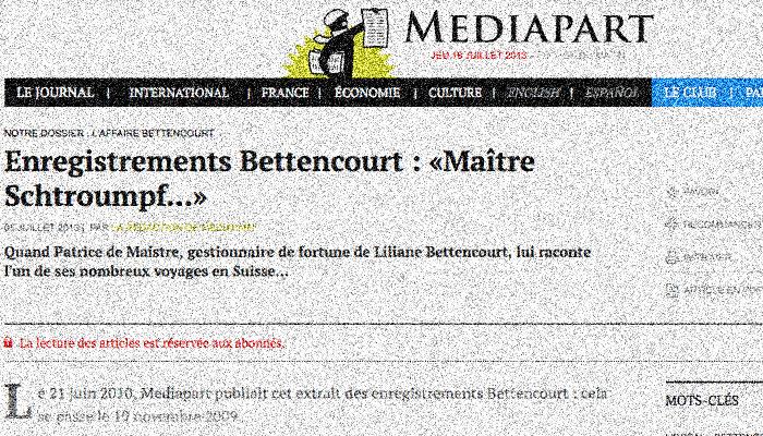 Bettencourt : Mediapart condamné à retirer les enregistrements