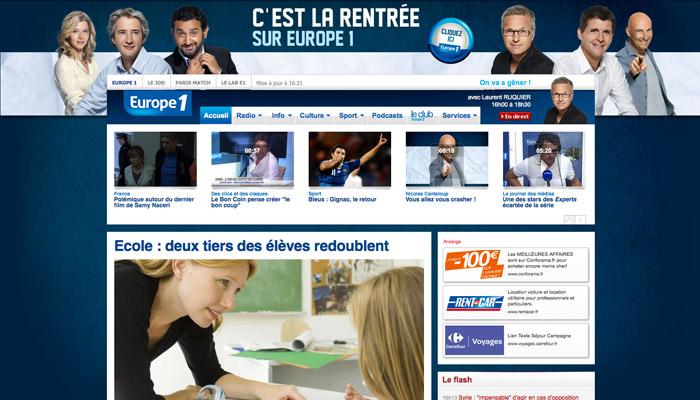 Publicité : Europe 1 « en mode électoral »