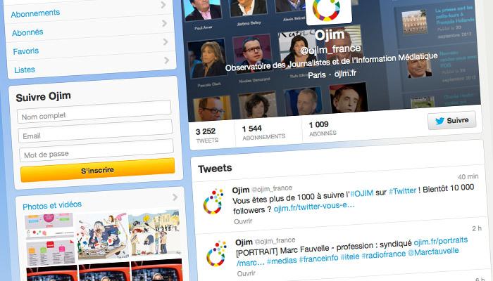 Twitter : vous êtes plus de 1000 à suivre l'OJIM !