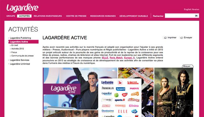 Lagardère Active pourrait vendre des titres de presse