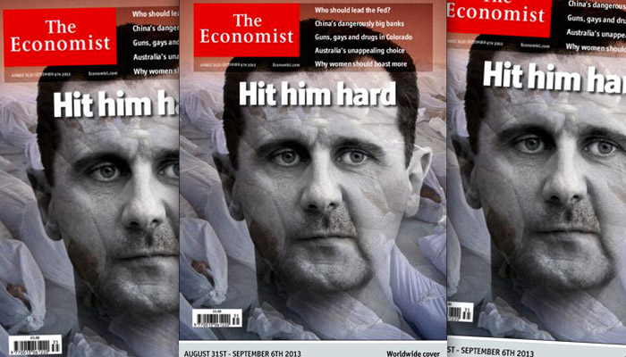 The Economist appelle à « frapper fort » Bachar el-Assad