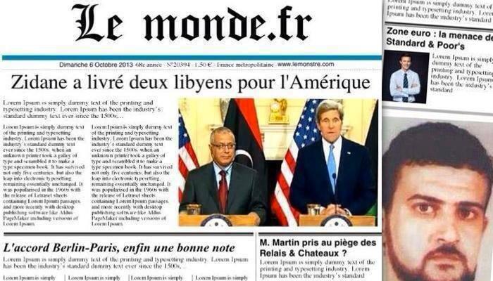 Lybie : tentative de manipulation autour de la Une du Monde