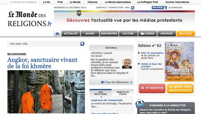 Frédéric Lenoir démissionne du Monde des religions