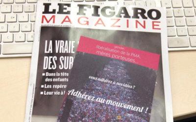 Un bulletin d'adhésion à la Manif pour tous dans le Fig'Mag