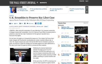Libor : Le Wall Street Journal contraint de retirer un article