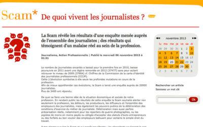 De quoi vivent les journalistes ? L'enquête de laScam